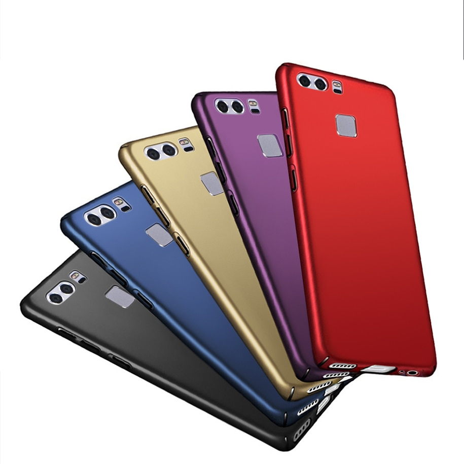 "Cubierta para Huawei P9 cubierta esmerilado duro completa volver funda para Huawei P9 EVA-L09 EVA-L19 EVA-L29 caso Fundas para Huawei P9 5,2"""