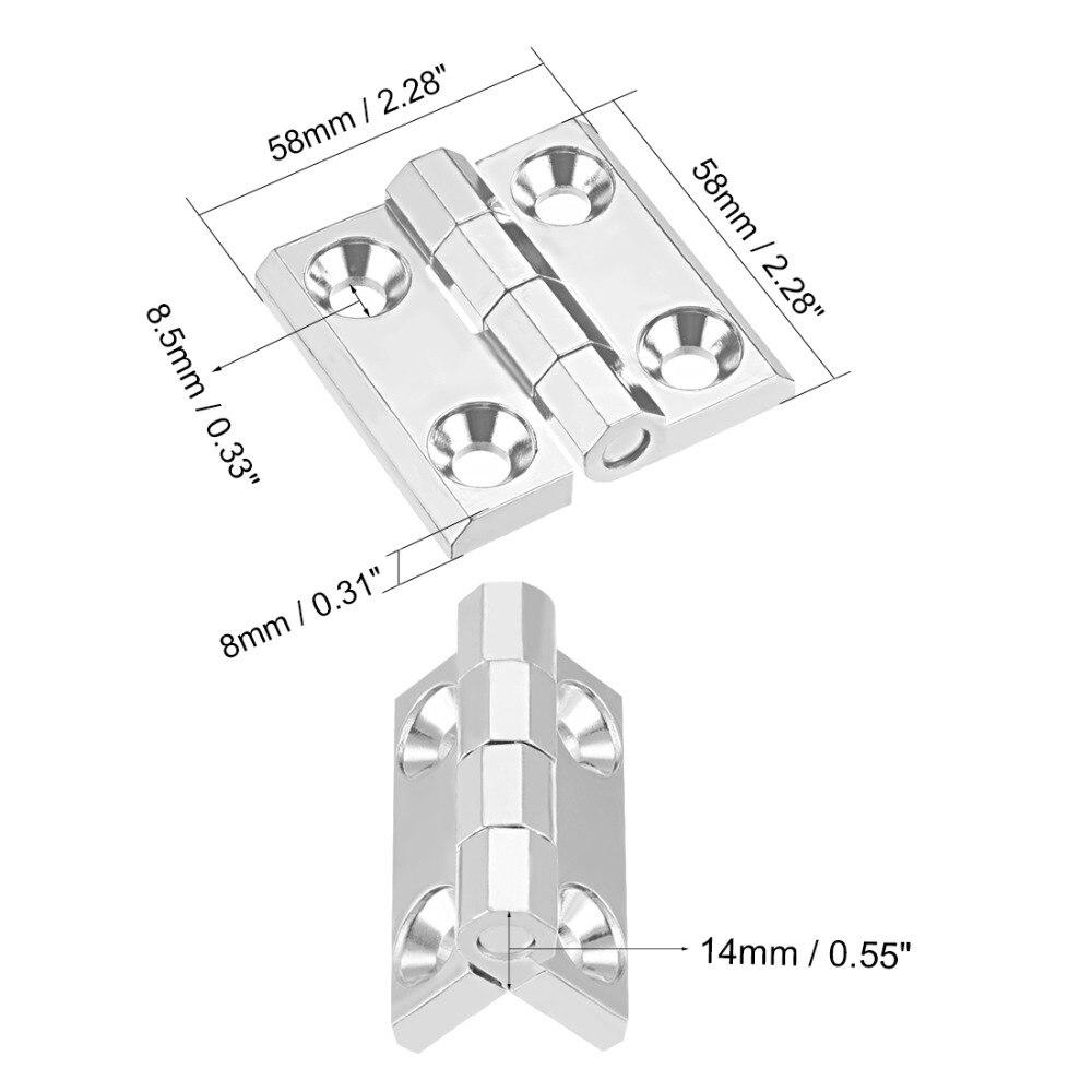 Uxcell Neueste 1Pcs Heavy-duty Scharnier 60x60x14mm 58x58x14mm 50x50x10mm Schrank Tor Schrank Home Tür Scharnier Widerstehen 50kg