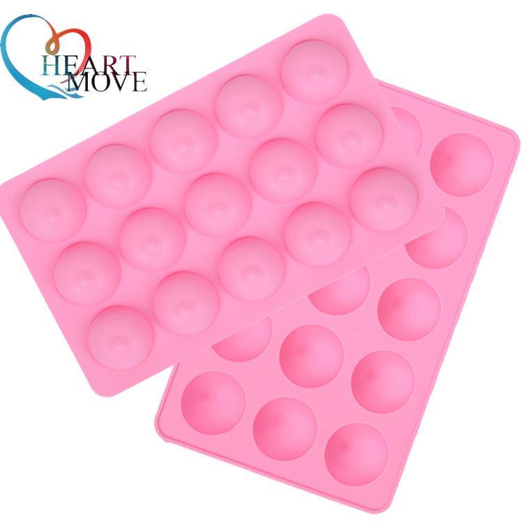 HEARTMOVE Sexy Wacky забавная форма для торта на груди силиконовая для кубиков льда форма для мыла помадка Инструменты для выпечки 15 отверстий шоколадная форма 9434