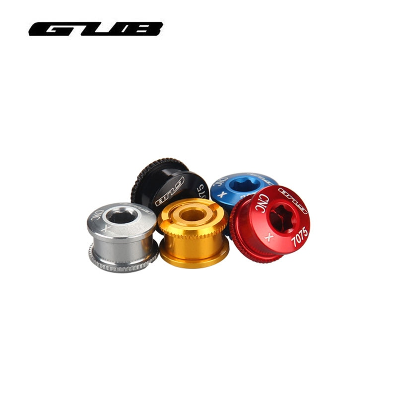 GUB 5pcs אופני סוגר תחתון Chainwheel BB ארכובות כיסוי כוסות זרוע בורג M8x8mm/M8 * 6mm MTB כביש אופניים דיסק בורג CNC לshimano