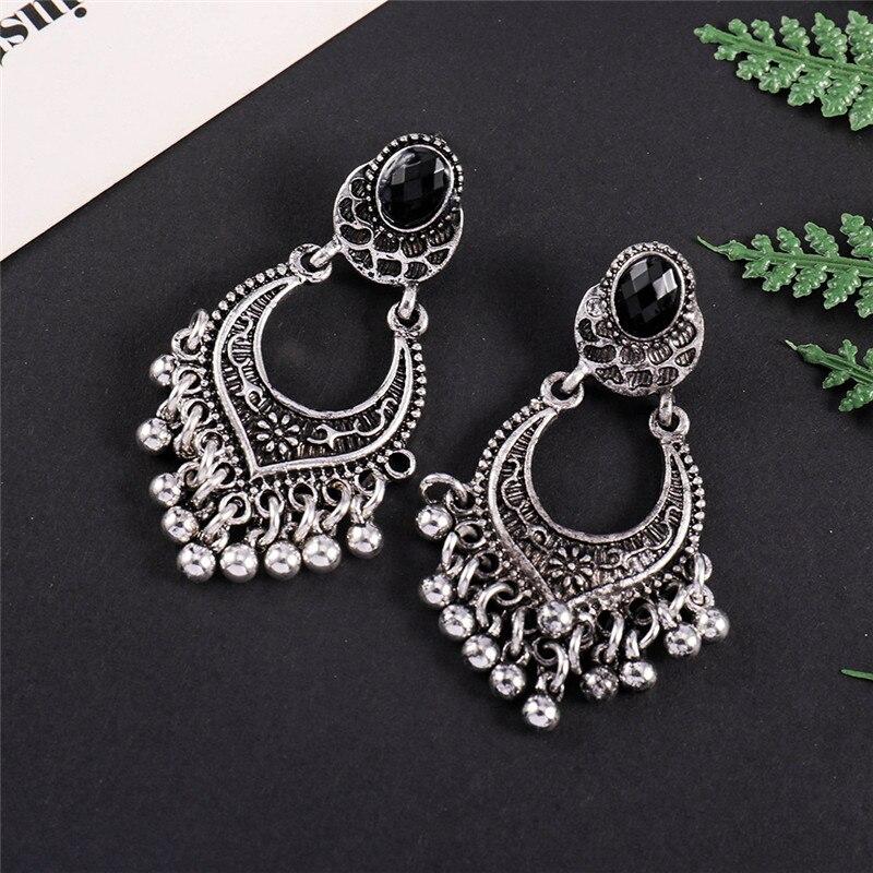 Ahmed Bohemian Vintage Gold Silver Water Drop Earrings for Women Fashion Retro Taseel Dangle Hanging Earring Jewelry Gifts