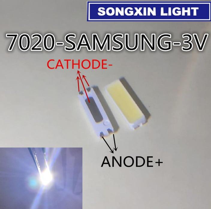50 piezas para SAMSUNG LCD LED retroiluminación TV aplicación LED retroiluminación TT721A 0,5 W 3V 7020 blanco frío SPBWH1720S1 LED LCD TV retroiluminación