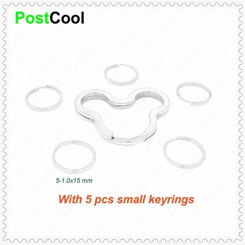 Joyería de moda con 5 llaveros pequeños ratones/huevo/corazón/manzana para llavero/anillos divididos/llavero/accesorios DIY
