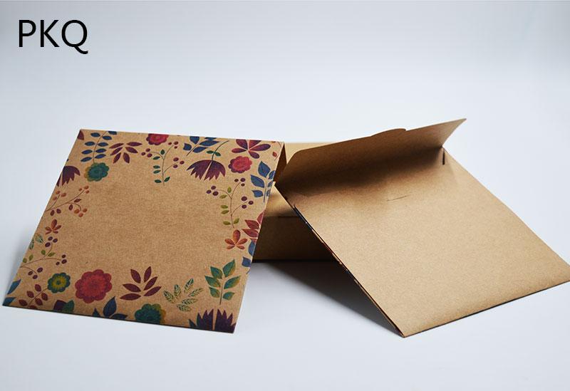 50pcs Wholesale Wedding CD/DVD Case Box Kraft Paper CD Packaging Cover CD Sleeves Discs DVD Storage Bag Envelope 12.8x12.8cm