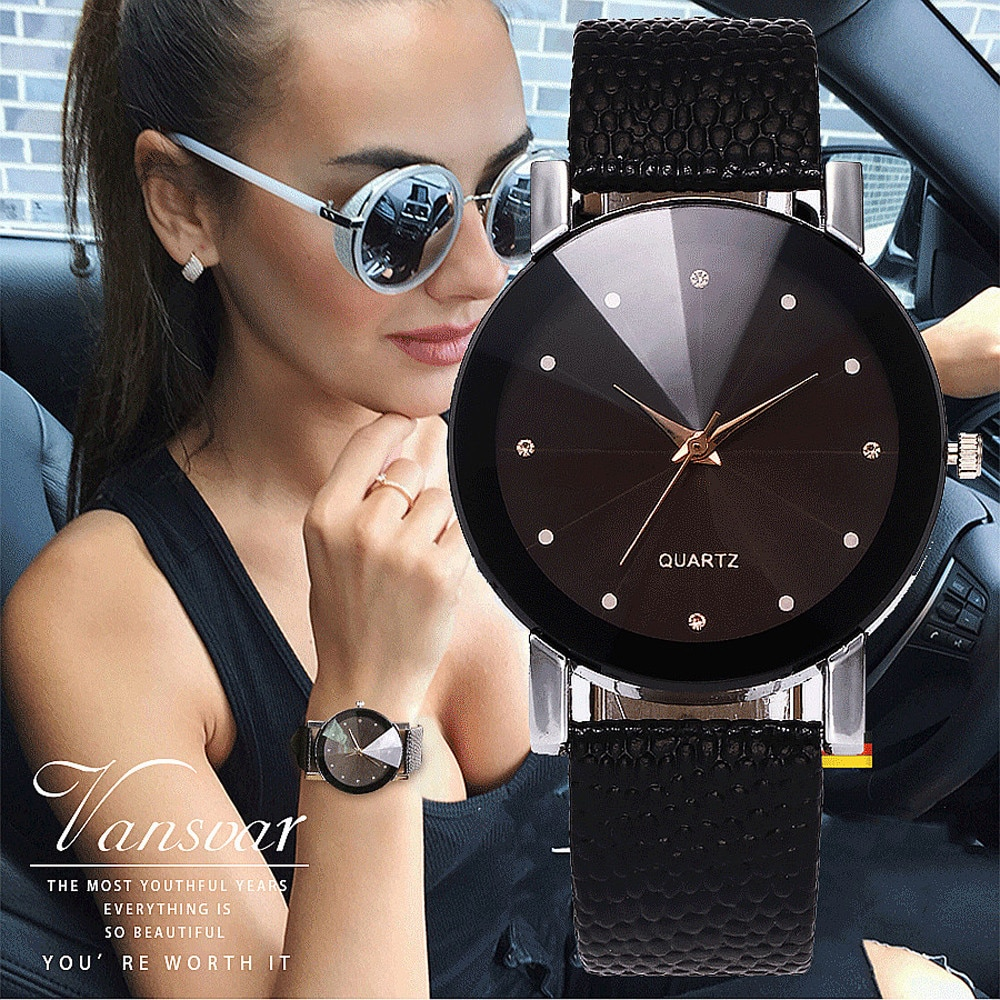 Women Watches 2021 New Vogue Women's Casual Quartz Leather Band Simple Watch Simple Fashion Analog W