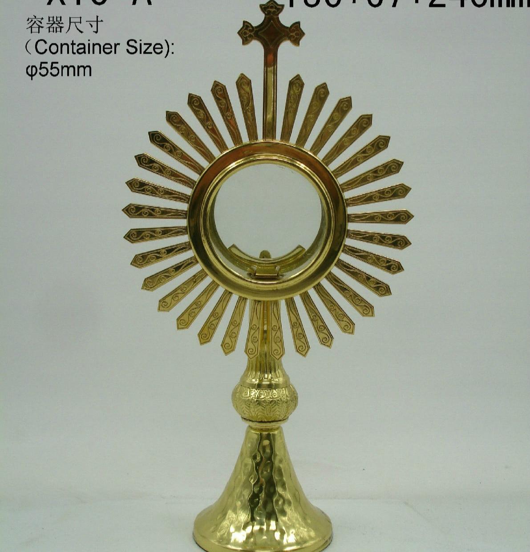 High quality Ostensorium Holy reliquary Catholic Supplies Church Sacrament Exquisite Elegance Monstrance Holy Box Jesus Lords