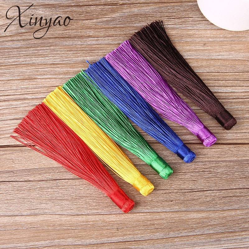 XINYAO 10pcs 120mm Rayon Polyester Silk Tassel Earrings Charms Chinese Knot Cotton...
