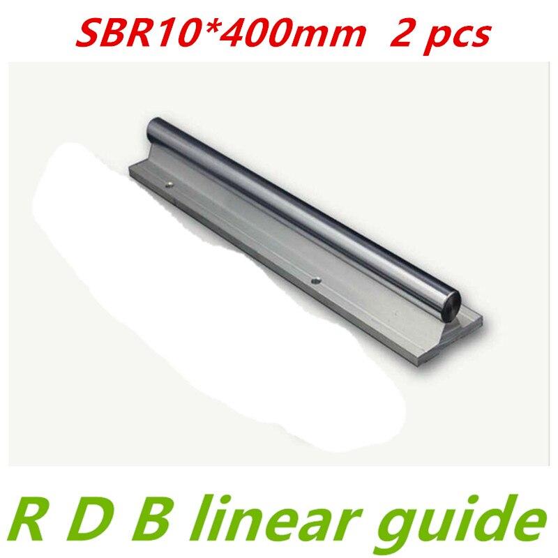 سكة خطية مستديرة SBR10 ، قطر 10 مللي متر ، دليل خطي 400 مللي متر ، دعم لقطع cnc