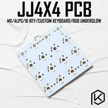 Jj4x4 jj4X4 16 teclas de teclado mecánico PCB programado numérico diseños bface firmware con rgb abajo LED Alpes mx