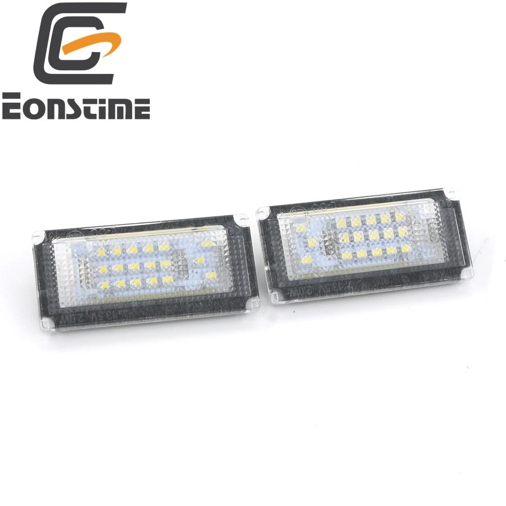 Eonstime 6000K blanco 2 uds 18 LED matrícula luces lámpara para BMW Mini Cooper Convertible R50 R52 R53 2004-2008 12V DC