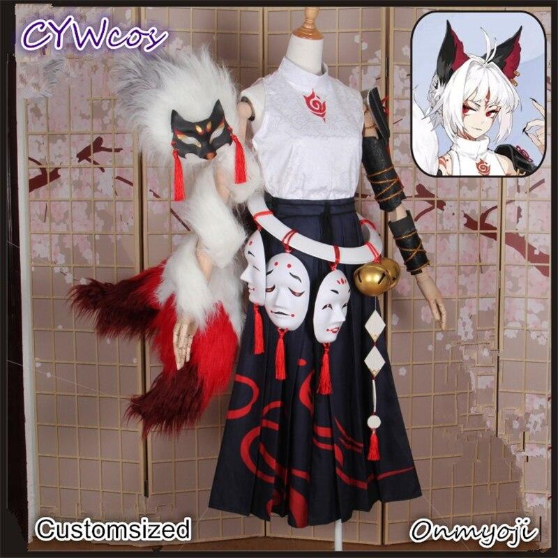 Костюм для косплея Onmyoji SSR, из кожи белого цвета Bai Zangzhu после пробуждения, японское кимоно, платье для рождественской вечеринки