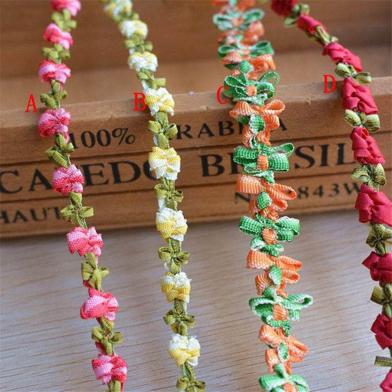 Accesorios de ropa diy materiales hechos a mano ropa falda Cordón de encaje cinta de decoración 1,2 cm x 1 metro