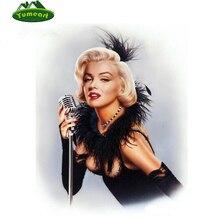 Pintura diamante Ponto Cruz Diamante Mosaico Bordado Cheio de Diamantes de Moda Rainha Sexy Marilyn Monroe Pintura De Parede Artes