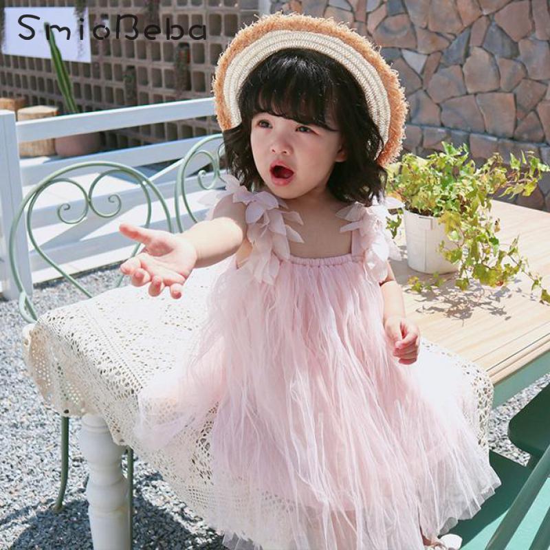 Summer Baby Girl Dress Sleeveless Hanging Petal Princess Dress Newborn Kids Girls Infant Dresses Toddler Baby Girl Clothes 1-4Y