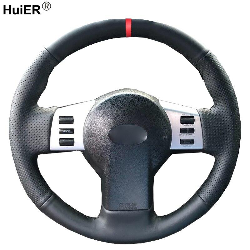 Ручной швейный чехол рулевого колеса автомобиля для Infiniti FX FX35 FX45 2003-2008 для Nissan 350Z 2003- 2009 оплетка на руле