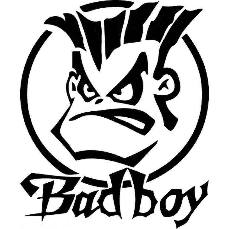 15CM*17.8CM Humor Bad Boy Vinyl Sticker Decal Car Bumper Car Styling Sticker Motorcycle Decal Accessories Black Sliver C8-1059