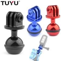 TUYU CNC 360 Degree Rotation Ball Head Mount Tripod 2 5CM for Gopro Hero 9 8 7 6 5 4 SJCam Cameras Accessory