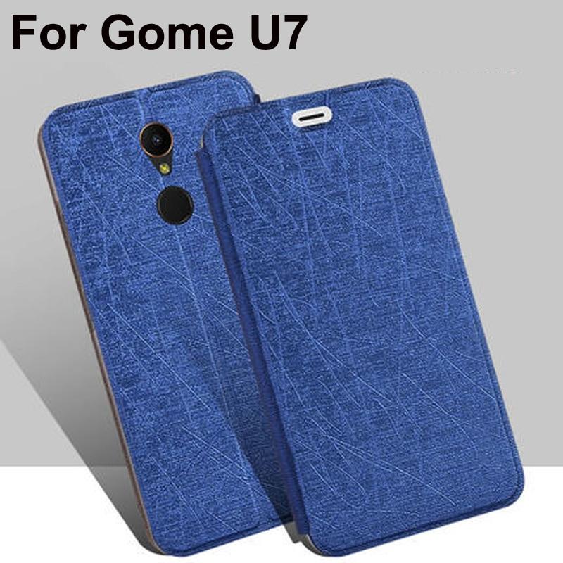 "Luxury PU Leather Case For Gome U7 flip stand cases back Cover For Gome U7 U 7 shell GomeU7 protective capas coque 5.99"" fundas"