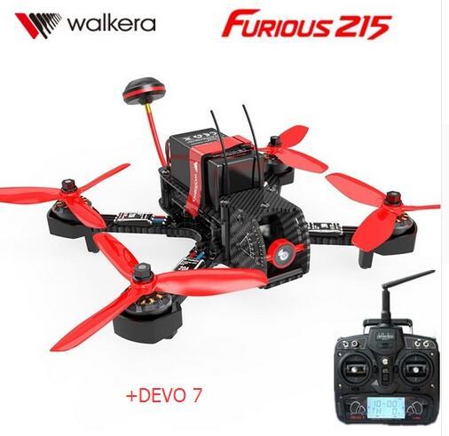 Walkera furioso 215 RTF + DEVO 7 transmisor con 600TVL Cámara F3 de Control de vuelo RC Quadcopter avión teledirigido de carreras