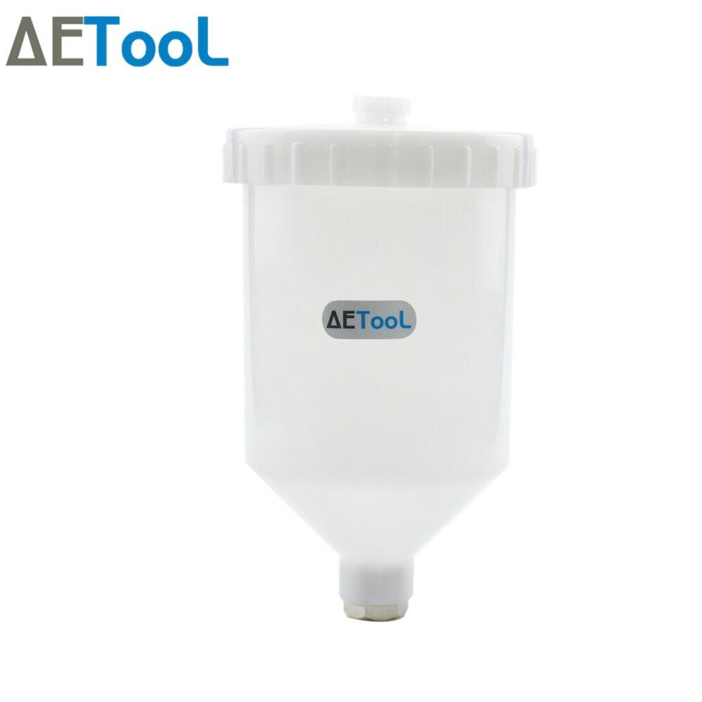 AETool Новый 600 мл пластиковый распылитель краски горшок распылитель чашка воздушный гравитационный поток Быстрый резьбовой соединитель для пульверизатора