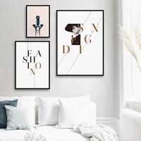 Affiche et imprimes dart en toile a la mode   Peintures murales modernes pour filles  decoration nordique pour salon  maison