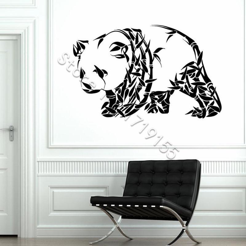 Adorável Panda Animal Panda Urso Ornamento Animal Adesivos de Parede Decalque Da Parede Do Vinil Casa Interior Crianças Nursery Quarto Desenhos Animados DecorZW451