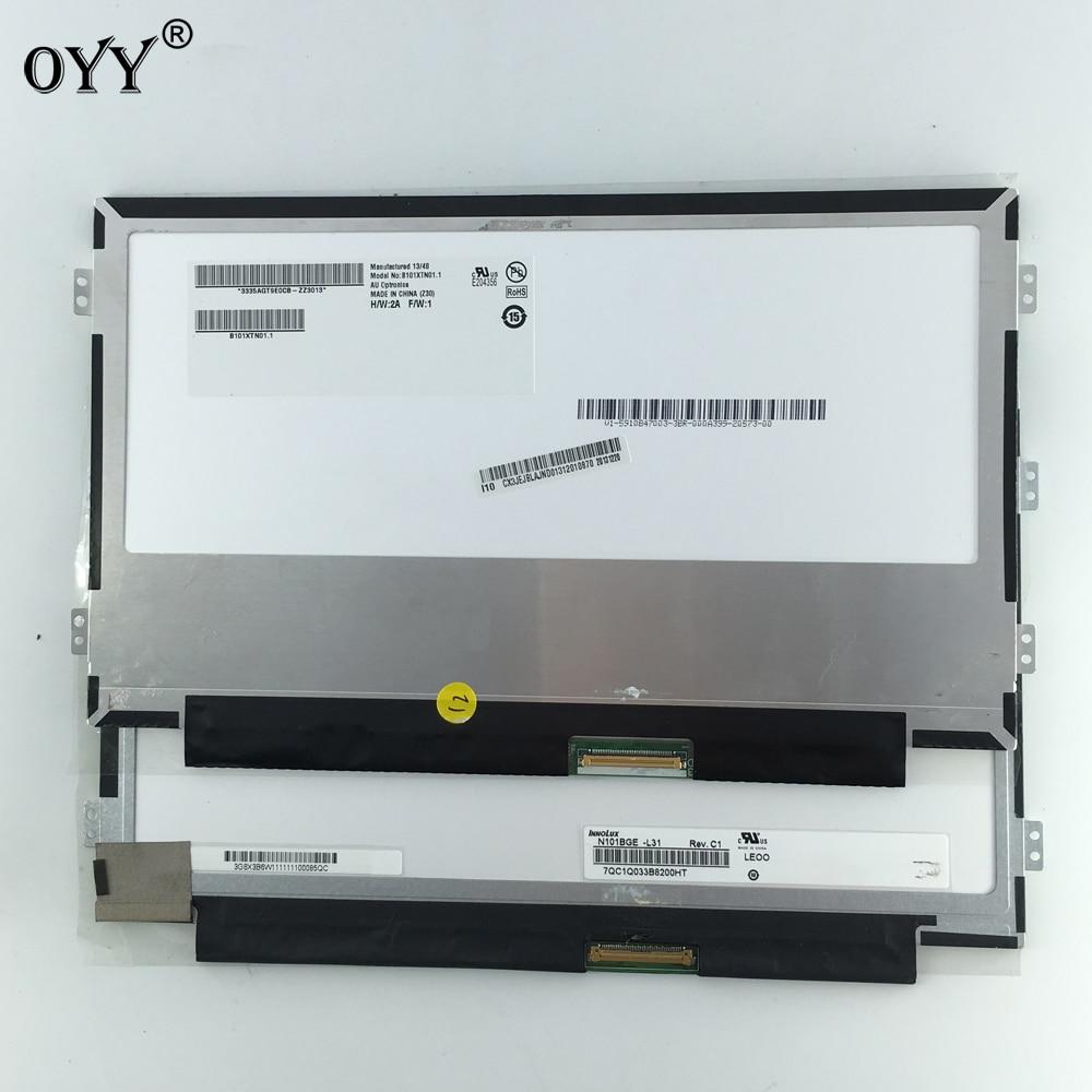 "1366*768 N101BGE-L31 B101XTN01.1 B101XTN01 M101NWN8 HSD101PHW1-A00 10,1 ""LCD pantalla LED LCD Panel de pantalla WXGA HD Slim"