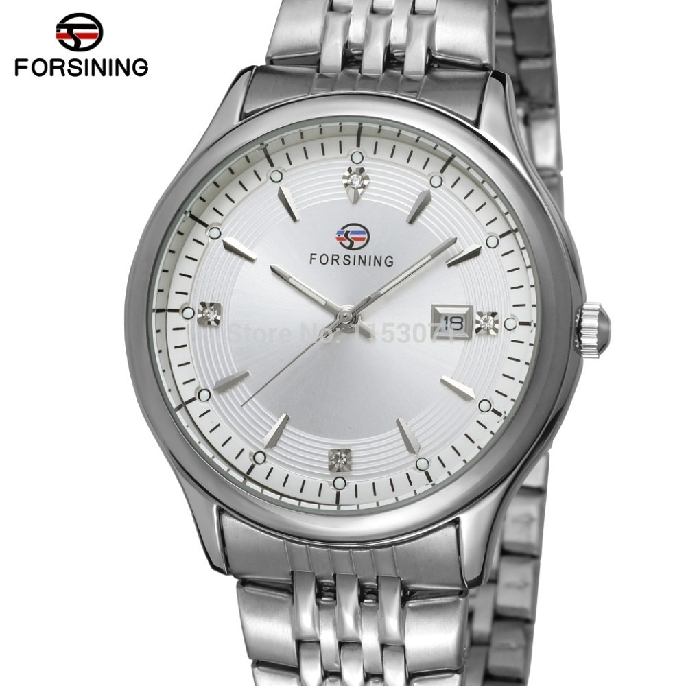 FSG8088Q4S1 new quartz  stainless steel bracelet watch with with silver color bars index high quality best price free shipping