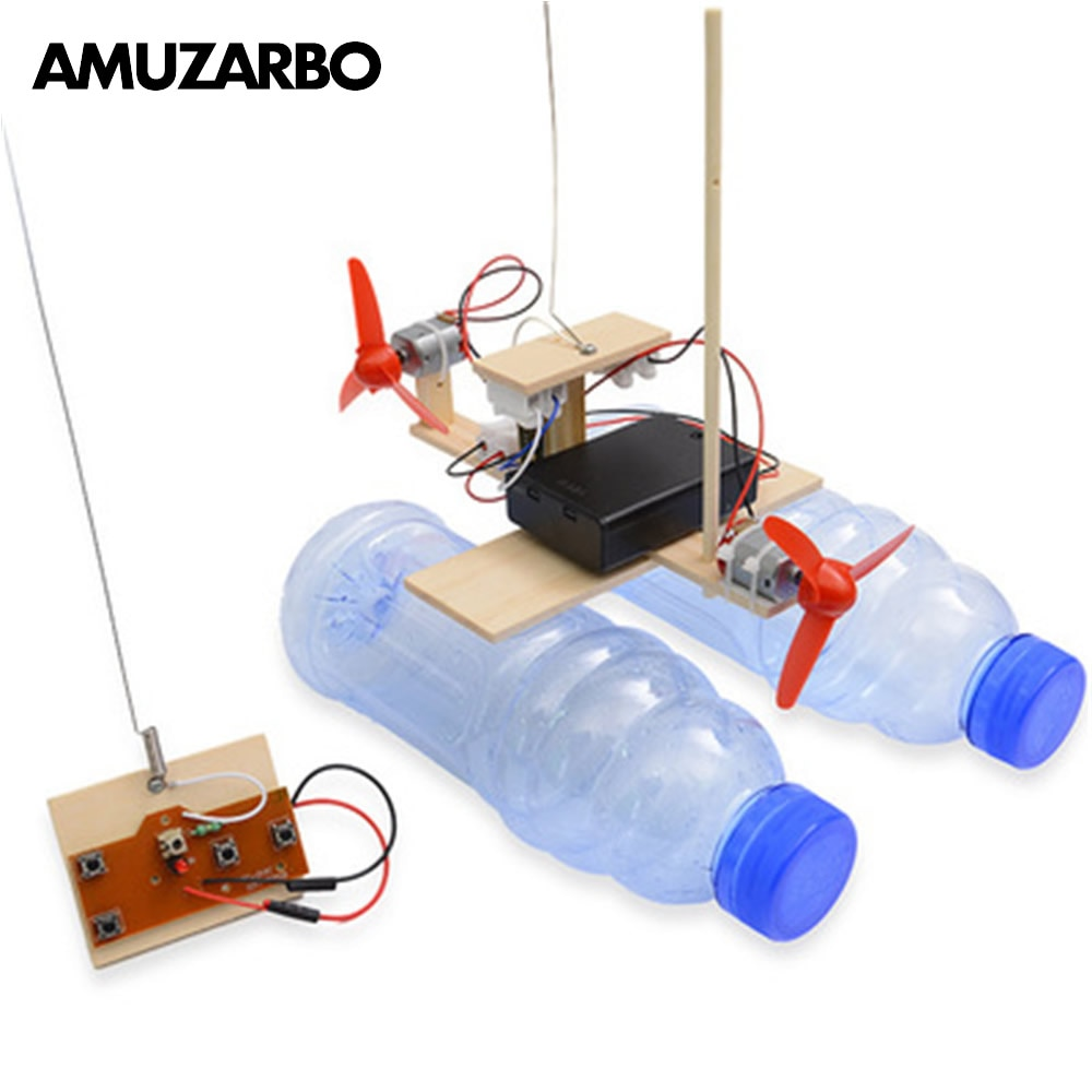 1Set New Technology Small Production Remote Control Wind Ship Model Scientific Experiment Invention DIY Bracket Assembly Toy