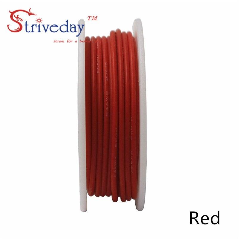10 metrów/rolka 32.8 stóp 26AWG elastyczne guma przewód silikonowy konserwy miedź linia DIY kabel elektroniczny 10 kolorów do wyboru