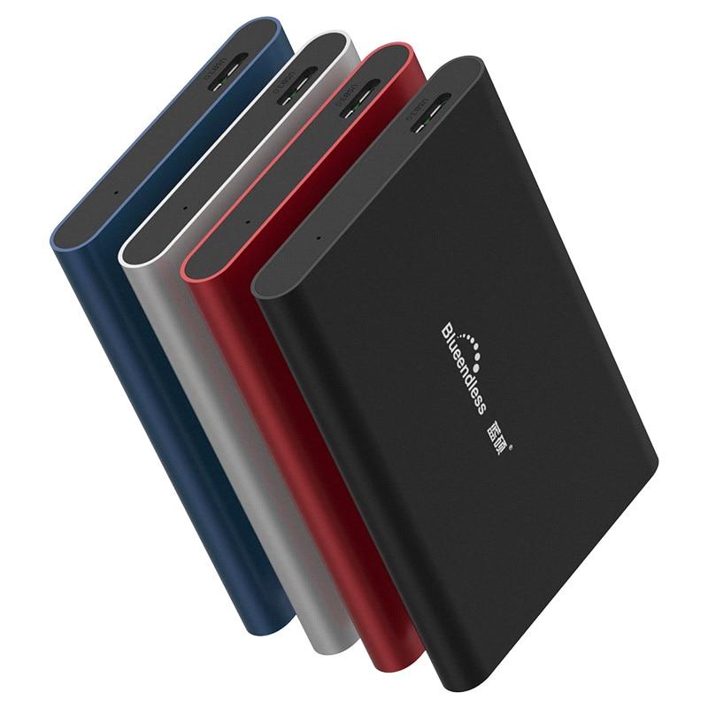 Blueendless المحمولة الخارجية القرص الصلب 1 تيرا بايت USB3.0 500g HDD للكمبيوتر و كمبيوتر محمول القرص الصلب 2 تيرا بايت تخزين الأجهزة HD Externo