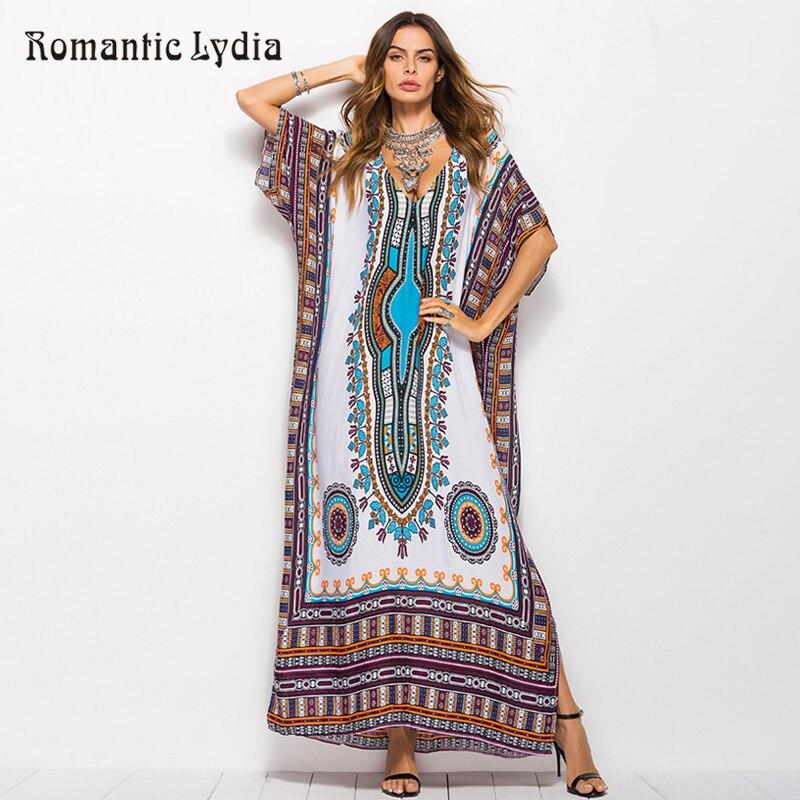 Kaftan retro até o chão vestidos africanos das mulheres tamanhos grandes étnicos dashiki robe femme boho longo maxi vestido de verão mais tamanho