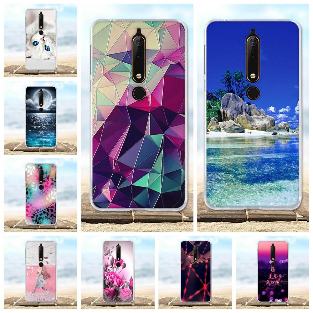 For Case Nokia 6 2018 6.1 Cover Silicone TPU Luxury Bag For Nokia 6.1 Case Flower Patterned For Nokia 6 2018 Phone Case Funda