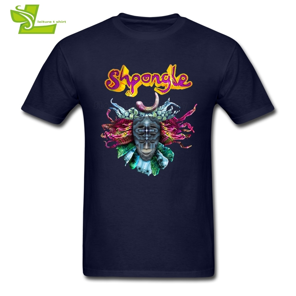 Shpongle T Shirt 남성 여름 100% Cotton 참신 티 남성 New Coming Oversize Tops 홈웨어 Normal Loose Guys Tee Shirts