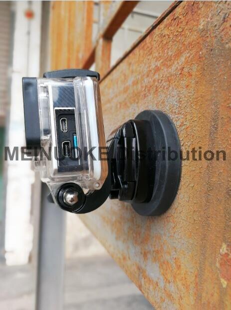 Copo magnético revestido de borracha da sução do carro com montagem do tripé para o herói de gopro/sjcam/câmera da ação de xiaomiyi