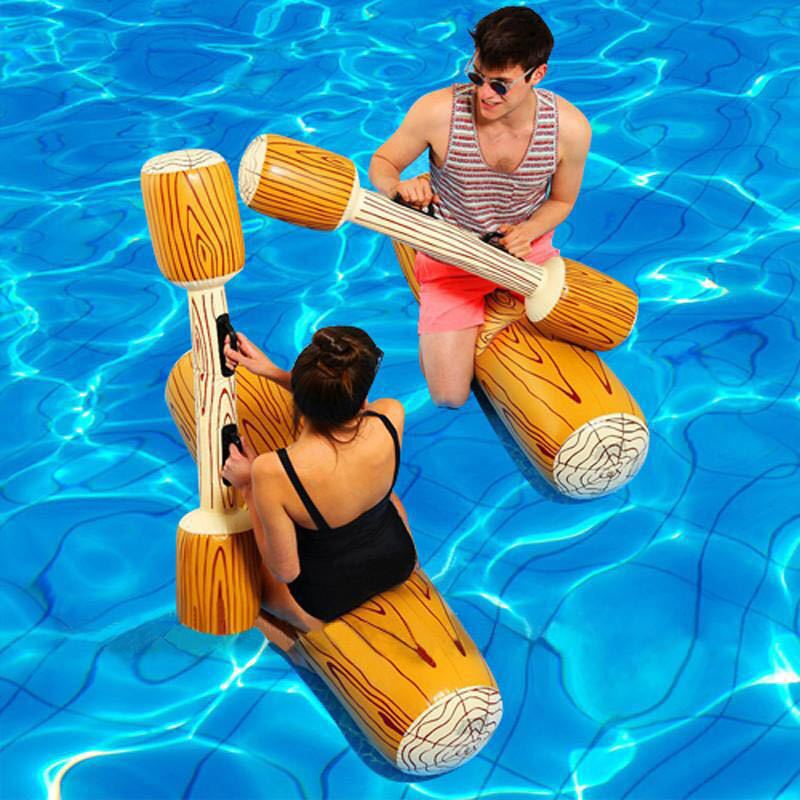 4 piezas de juego de flotador de Piscina, juguete amortiguador deportivo inflable de agua para adultos, niños, fiesta, Gladiador, balsa, Kickboard, Piscina