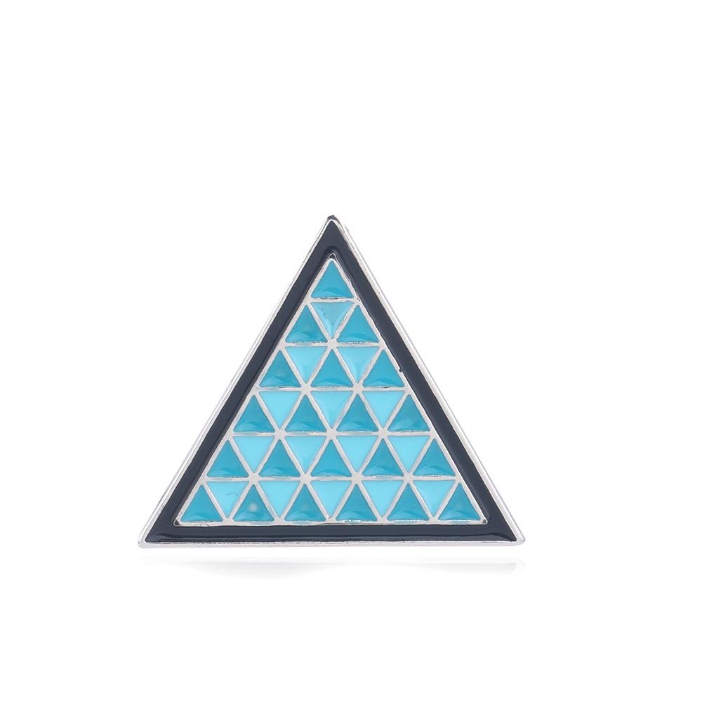 Rongji ювелирные изделия Детройт стать человеком брошь значок под легендой треугольник со Скосом мужские и женские модные ювелирные изделия