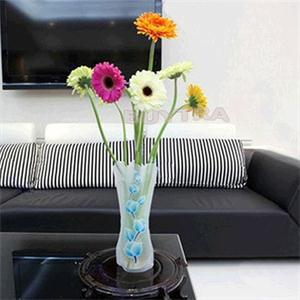 1Pcs Eco-friendly Foldable Folding Flower PVC Durable Vase Home Wedding Party Easy to Store 27.4 x 11.7cm
