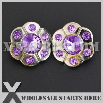 (RB1037 #20 ~ #37) moda akrylowe Rhinestone przycisk, srebrna podstawa, cholewka z powrotem, niestandardowe zamówienie zaakceptować