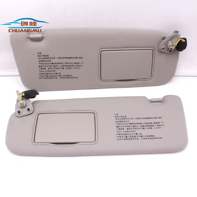 CHUANGMU For HYUNDAI sonata NF NFC Sun visor Sunshade assembly 85201-0R300X6 85202-0R300X6 gray