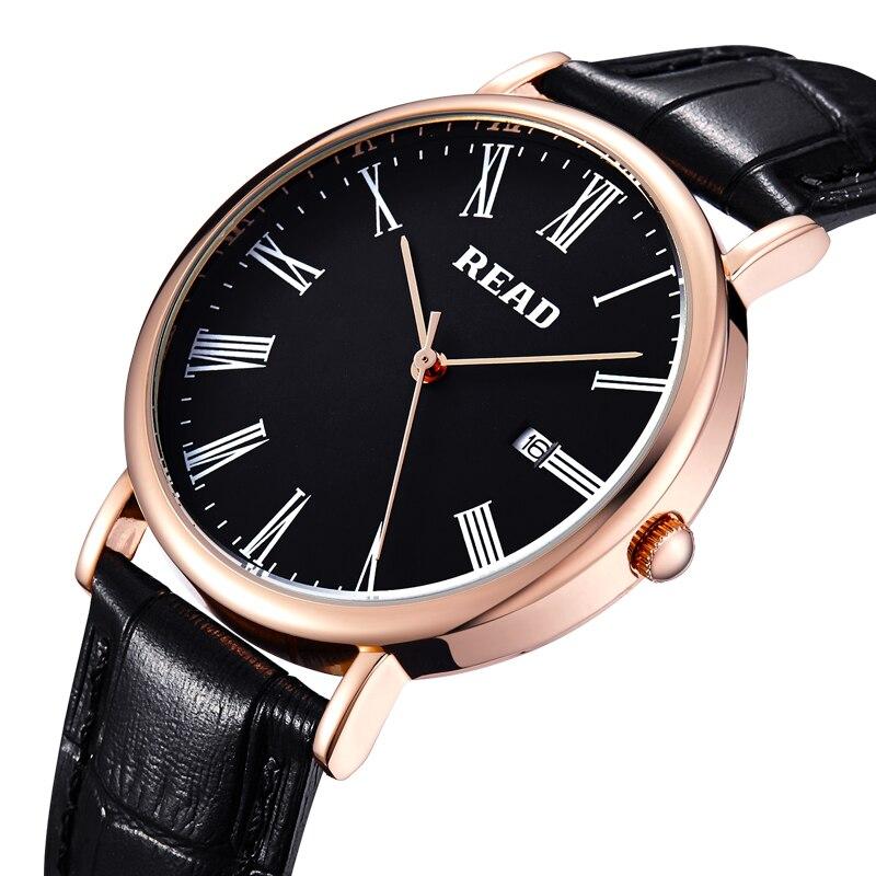 ¡Novedad de 2019! Relojes deportivos de lujo para hombre o niño con correa de cuero marrón/negro con fecha heren horloge 2021