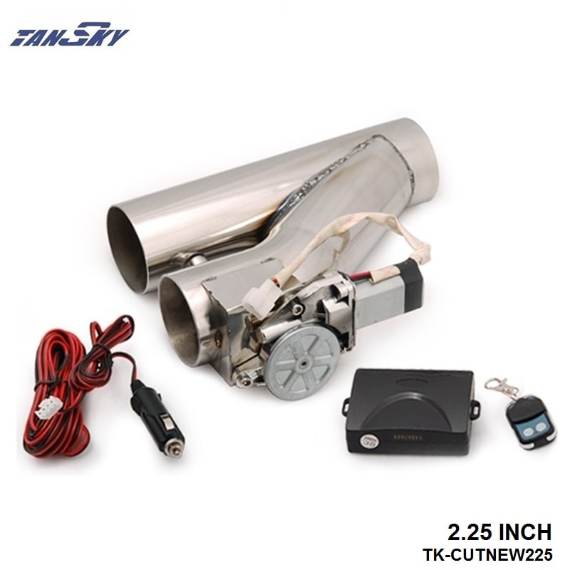 "Tubo de escape de 2,25 ""Catback E kit de corte eléctrico Control de interruptor + TK-CUTNEW225 remoto"