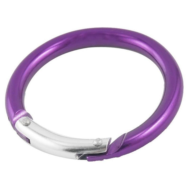 DSGS llavero redondo púrpura hebilla mosquetón 5 cm de diámetro