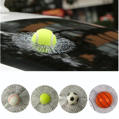3D Auto Car Vehicle Ball Hits Styling Body Window Sticker Decal Accessories
