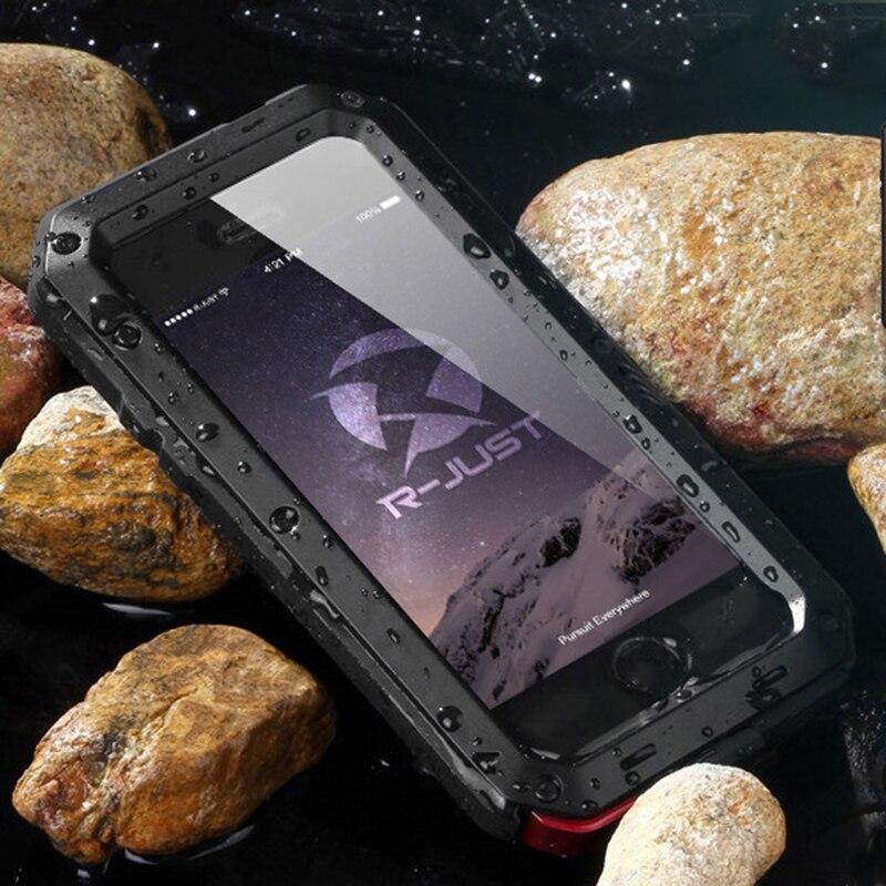 Caso de metal para o iphone 11 pro xr x xs max resistente à prova dshockproof água à prova de choque doom armadura telefone capa para iphone 8 7 plus 6 s 5S se