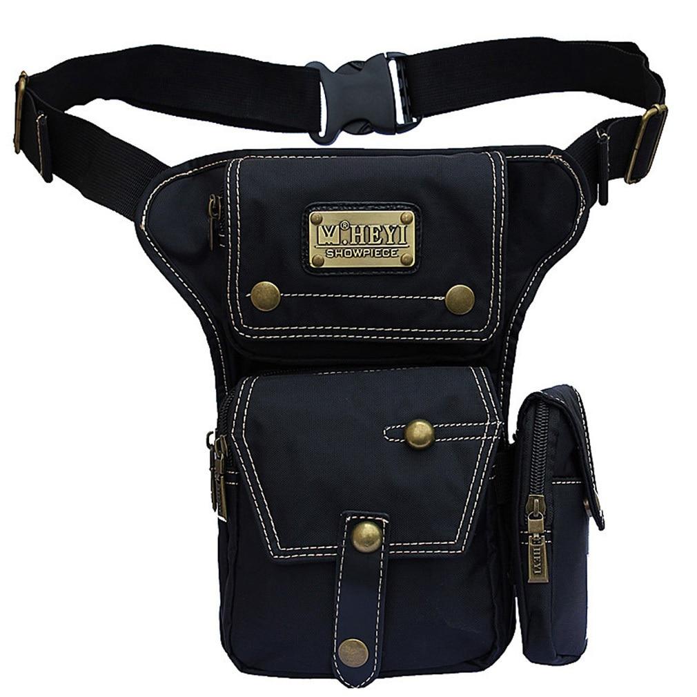 Bolsa cartuchera de nailon resistente al agua para hombre, bandolera con cuerpo cruzado, bolso para hombro, riñonera, muslo, viajes, motocicleta militar