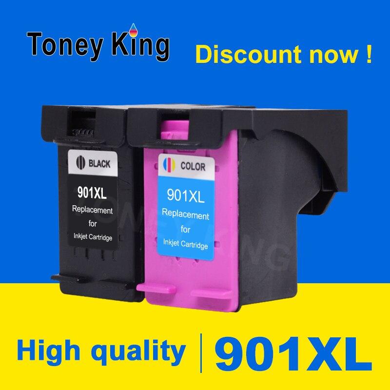 Toney rey 901XL llenar reemplazo de cartucho de tinta para HP 901 XL Officejet J4540 J4550 4500 J4524 J4530 cartuchos de impresora