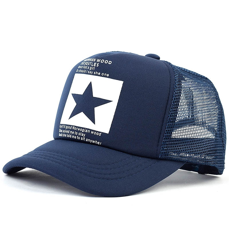 Gorra de béisbol de moda Hiphop para hombre y mujer, gorra deportiva ajustable de malla transpirable de secado rápido, gorra informal para hombre