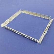 10 pièce/lot bricolage métal zingué revêtement Angle acier pour modèle connecter Rail pour modèle réparation plaque connecteur Angle support 0.5mm