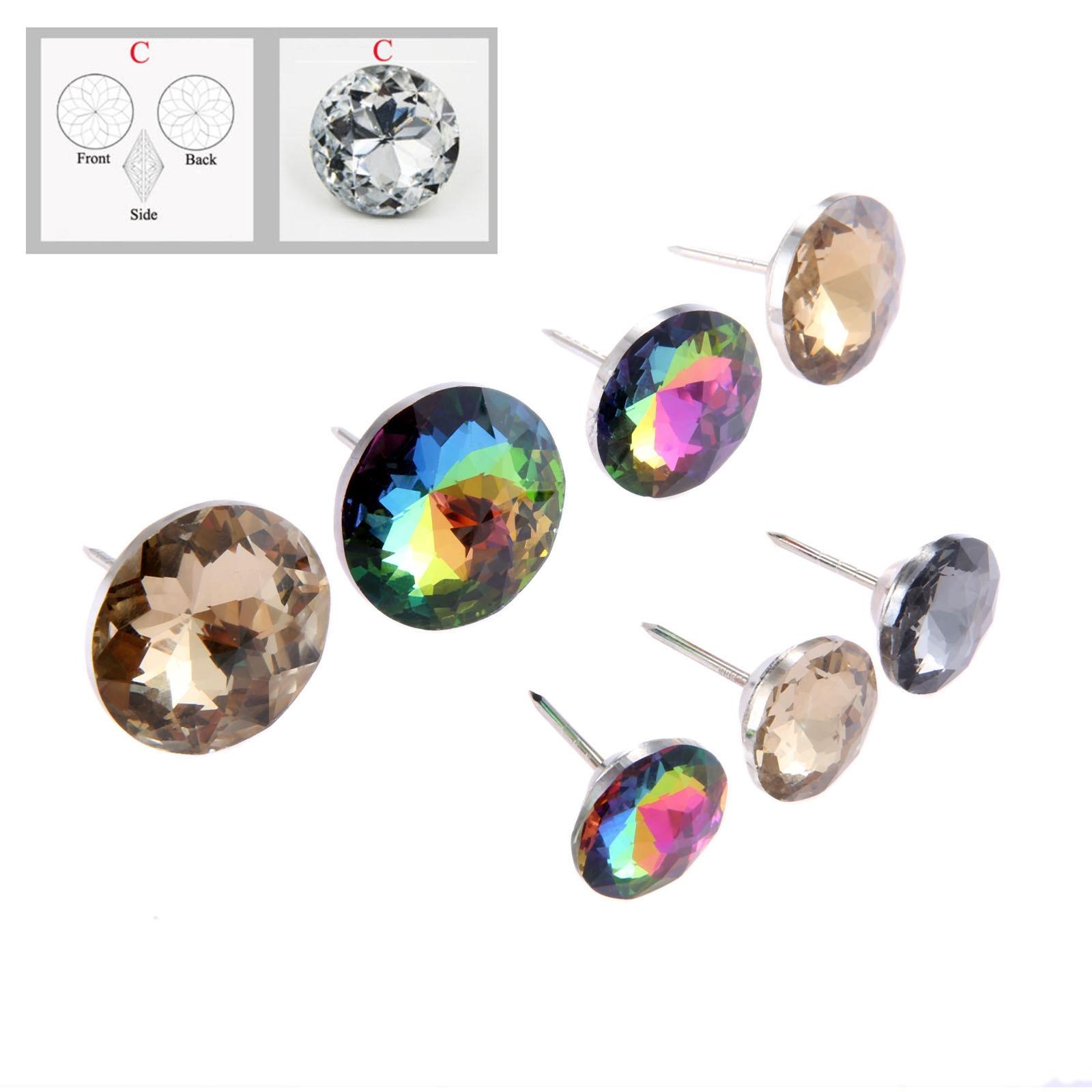 DRELD 5 uds diamante tapicería cristales para uñas botón muebles tachuelas PERNO DE broche/20/25/30mm decoración de pared del sofá accesorios de muebles